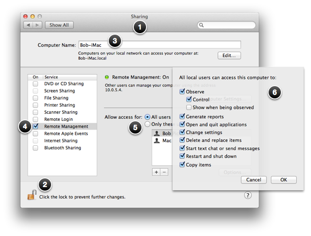 Configuring a Mac for remote management | Creative Tech Support